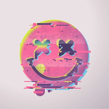 (0's vhs style funny face