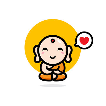 Maitreya Buddha vector design is funny