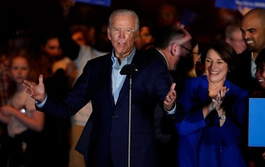 Democratic 2020 U.S. presidential candidate former Vice President Joe Biden, speaks at a campaign event in Dallas