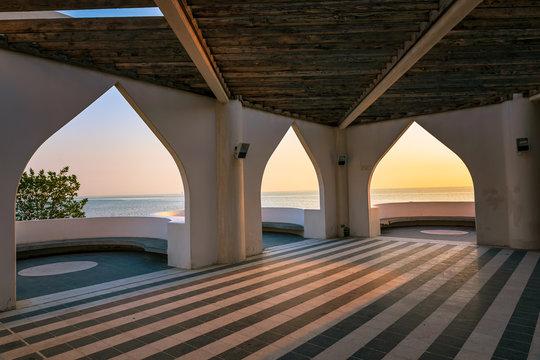 Frame within frame sea side view in Khobar Saudi Arabia