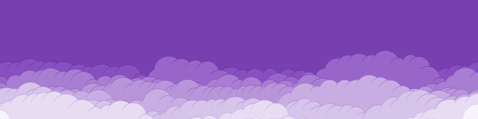 Photo sur Aluminium Prune Abstract Color Clouds Sky Generative Art background illustration
