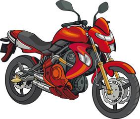 Fotobehang Motorfiets Red Super Motorbike