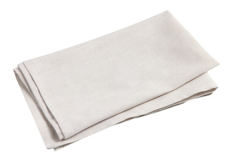 Cotton napkin isolated on white background