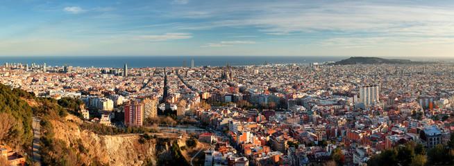 Fotorollo Barcelona Panoramic view of Barcelona, Spain
