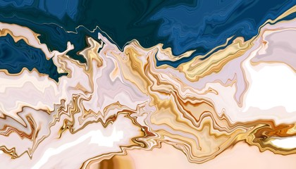 Fotobehang - Marble art marbling texture design background, Fluid arts wallpaper, Abstract trend print cover.