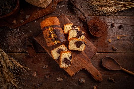 Freshly baked sweet bread