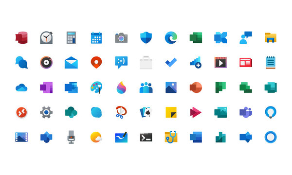 set icons colorful design vector