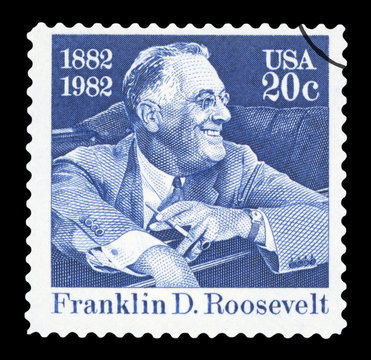 UNITED STATES OF AMERICA - CIRCA 1982: a postage stamp printed in USA showing an image of president Theodore Roosevelt, circa 1982.