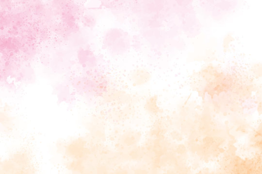 watercolor splash pink and gold background