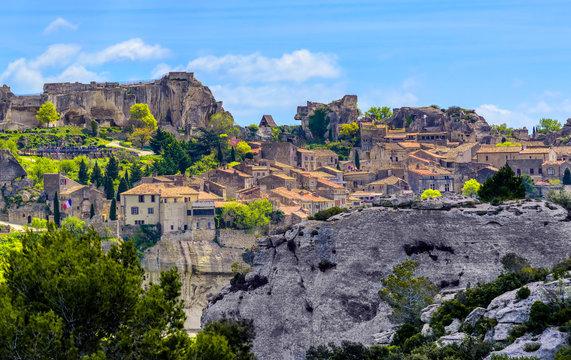 Les Baux-de-Provence village, Provence, France