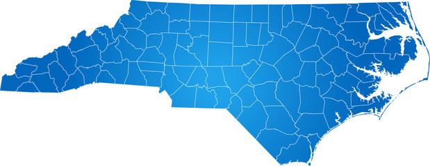 map of North Carolina Wall mural