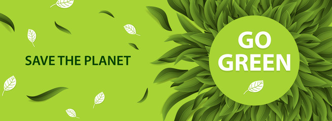 Sustainable environment, Saving environmental sustainability in ecosystem, International day of forest, World forestry day and CSR Go green concept. Vector illustration.