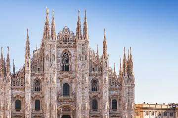 Tuinposter Milan Milan Cathedral facade fragment