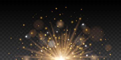 Vector transparent soft magic light effect Fotomurales