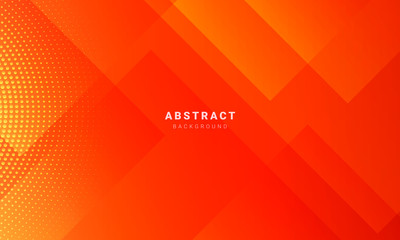 Abstract minimal orange background with geometric creative and minimal gradient concepts, for posters, banners, landing page concept image Fotomurales