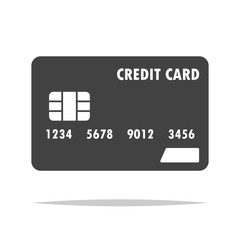 Credit card icon transparent vector isolated