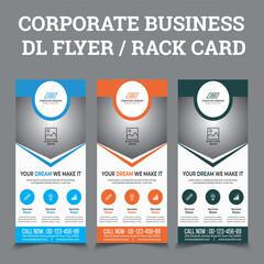 DL Flyer Template | Creative Modern Corporate DL Flyer Design with 3  calour