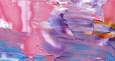 Photo sur Plexiglas Rose banbon Abstract acrylic and watercolor smear blot painting. Saturated Color horizontal texture background.