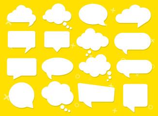 Fototapeta Vector speech clouds chat bubble icon. Vector illustration obraz