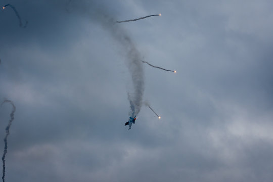 Airplane in The air at an Airshow