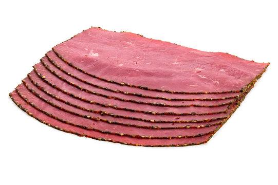 Slices of pastrami