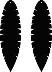 feather earrings feathers earrings cricut svg silhouete vector file jewelry cutfile template earring