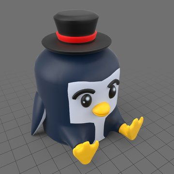 Plastic penguin toy