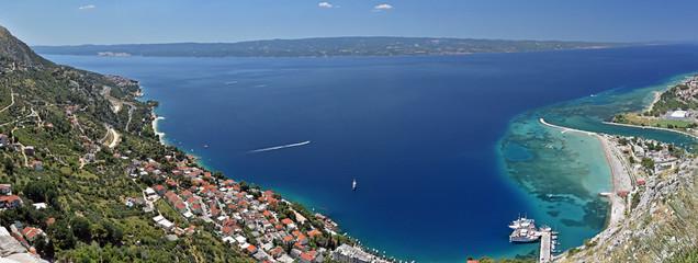 Omis Chorwacja widok z lotu ptaka