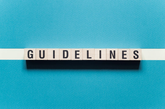 Guidelines word concept on cubes