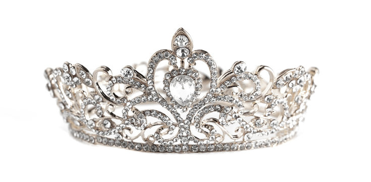 A Silver Crown Isolated on a White Background
