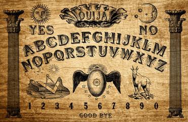 Ouija board themed Freemasonry game divinatory