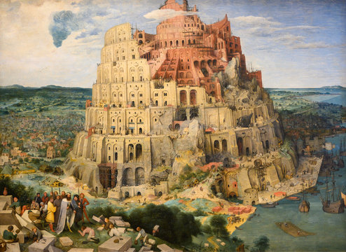 "Vienna, Austria. 2019/10/23. ""The Tower of Babel"" (1563) by Pieter Bruegel (also Brueghel or Breughel) the Elder (1525/30-1569). Kunsthistorisches Museum (Art History Museum) in Vienna, Austria."