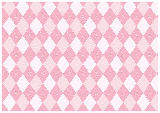 ピンクのアーガイル柄