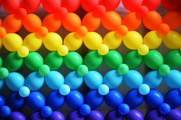 Colorful Balloons Wall Decoration background