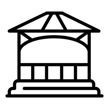 Gazebo arch icon. Outline gazebo arch vector icon for web design isolated on white background