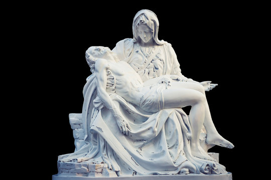 La Pieta statue - The blessed Virgin Mary holding dead Jesus Christ body