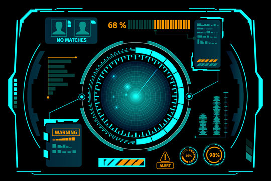 Hud Interface Radar Composition