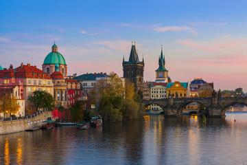 Foto op Aluminium Praag Charles bridge in Prague - Czech Republic