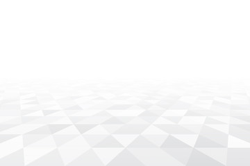 White and grey triangle perspective vector illustration. Abstract white mosaic background with triangular shapes. Wall mural