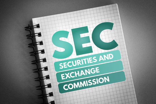SEC - Securities and Exchange Commission, business concept background