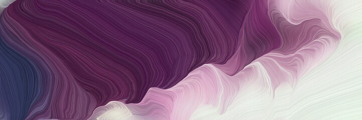 Foto auf Leinwand Rosa hell landscape banner with waves. modern soft swirl waves background illustration with light gray, very dark magenta and pastel purple color