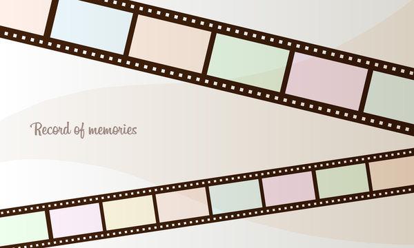 シンプルなフィルムのフレームのイラスト