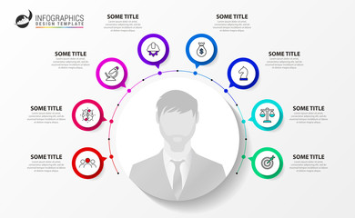 Infographic design template. Creative concept with 8 steps
