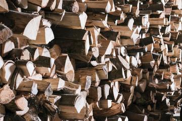 Canvas Prints Firewood texture Brennholz Lager