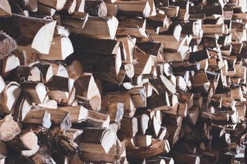 Keuken foto achterwand Brandhout textuur Brennholz Lager