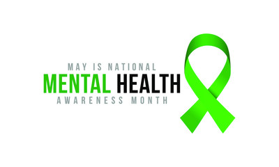 Vector illustration on the theme of National Mental Health awareness month of May.
