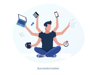 Successful, experienced and productive employee. Multitask worker