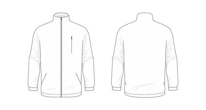 Jacket template/mockup for designs in vector format. Colors and gradients are easily modified, shadows can be hidden