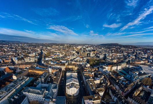 Luftbild Panorama Aachen Dom Theater NRW