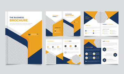 Corporate business presentation backgrounds design template and page layout design for brochure ,book , magazine, annual report and company profile , graphic elements  design concept For Business.